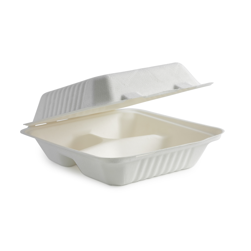 20 x 22 3-Compartment Clamshell Box