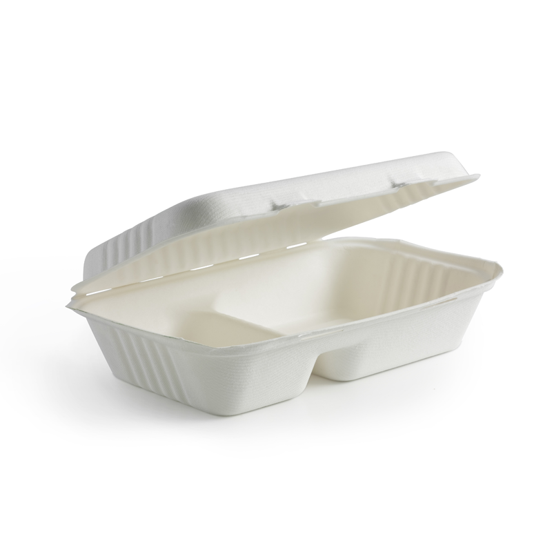 23 x 15cm 2-Compartment Clamshell Box