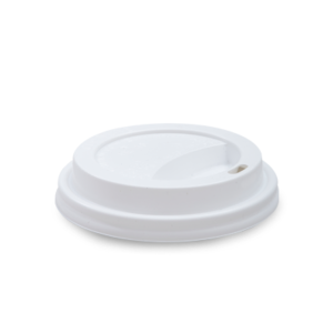 250ml Non Compostable Lid - White