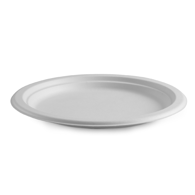 25cm Round Bagasse Plate