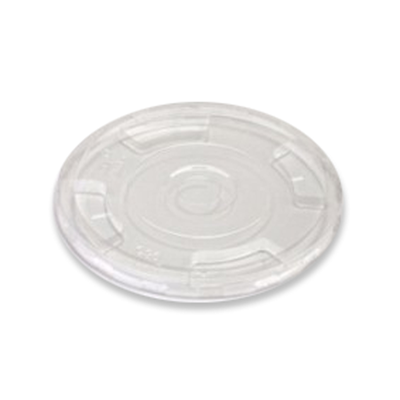 Flat PLA Lid with Straw Slot