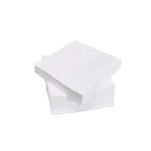 White Serviettes (Triple Green) - 2 ply 330 x 330mm