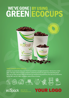 Marketing Support - A4 - EcoCups Promo