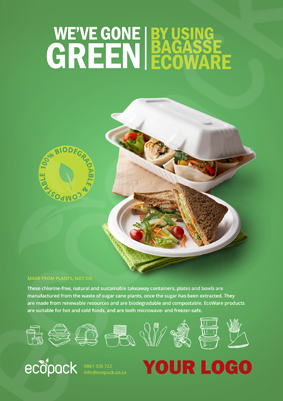 Marketing Support - A4 - EcoWare Bagasse