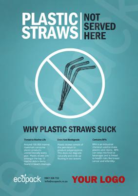 Marketing Support - A4 - No Plastic Straws