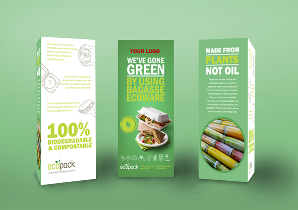 Marketing Support - Mockup Table Talker - Bagasse EcoWare
