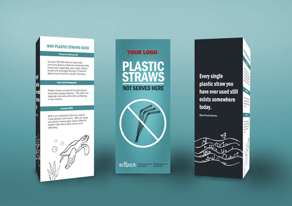 Marketing Support - Mockup Table Talker - Plastic Straws