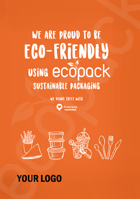 Marketing Support - Poster - Eco-friendly (Orange)